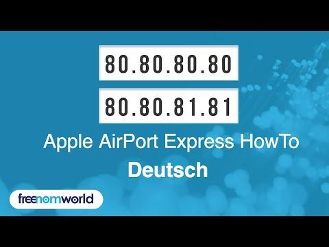 Freenom World Apple AirPort Express HowTo (German)