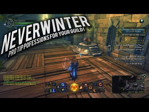 Neverwinter:Pro Tip professions for your guild