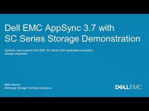 Dell EMC AppSync with Dell EMC SC Series Storage