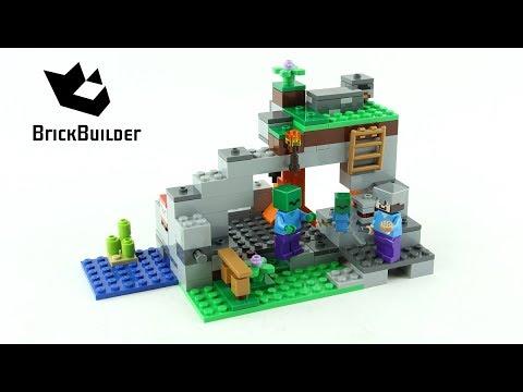 Lego Minecraft 21141 The Zombie Cave - Lego Speed Build