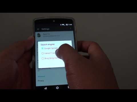 Google Nexus 5: How to Change Default Search Engine in Chrome