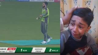 Little Fan of Lahore Qalandars Crying After losing Match 7 PSL 5 2021