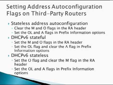 O'Reilly Webcast: IPv6 Address Autoconfiguration and DHCPv6