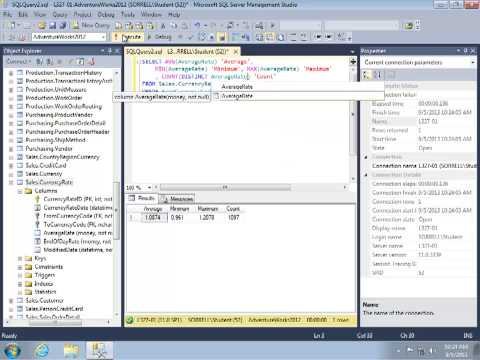 SQL Review Video 14: SELECT Part 6: Introduction to Aggregates