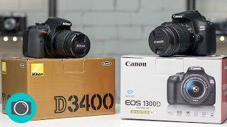 Best DSLR camera for beginners - Nikon D3400 V Canon EOS T6 / EOS 1300D