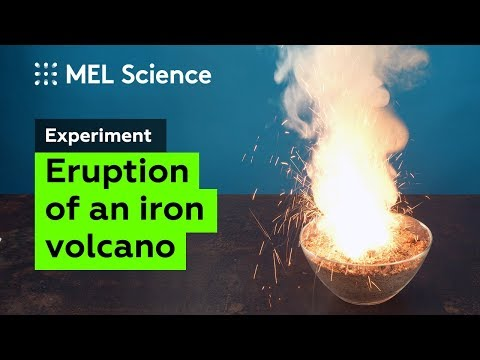 A sparkling volcano from two powders (