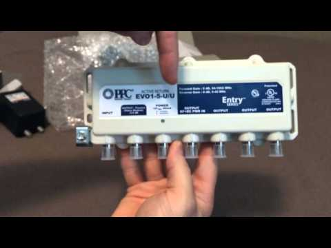 PPC Evolution 5-way Digital CATV Splitter/Amp Unboxing