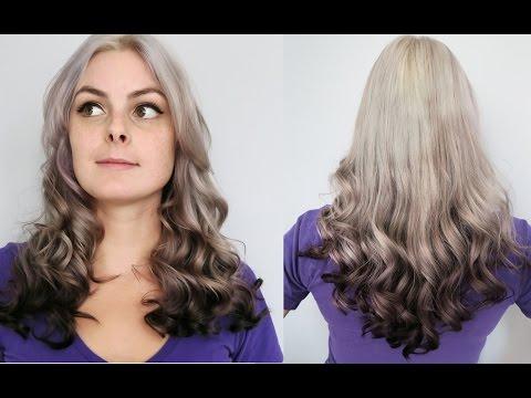 Dyeing My Hair Silver, Grey, and Black! Ombre Hair Dye Tutorial