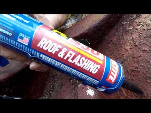Box gutter drop tube repair DIY