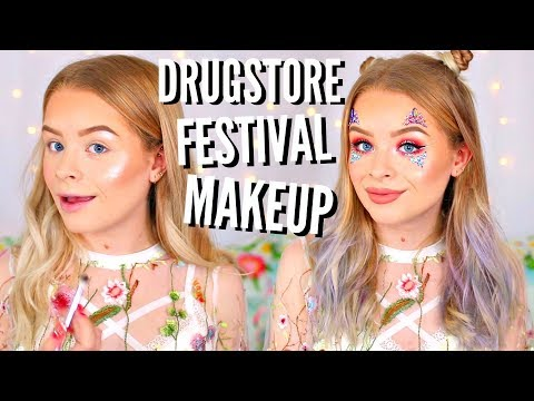 DRUGSTORE FESTIVAL MAKEUP AND HAIR TUTORIAL!! AD | sophdoesnails