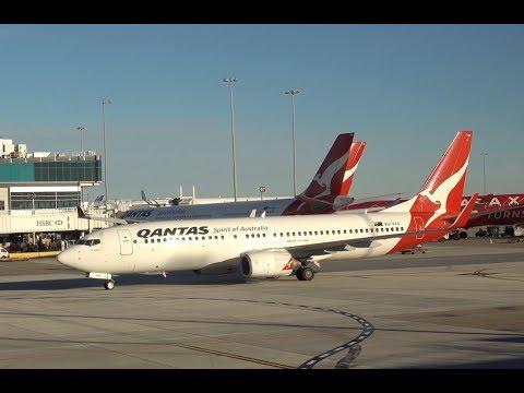 QANTAS Boeing 737-800 / Melbourne to Brisbane + Brisbane Tour / 4K VIDEO !