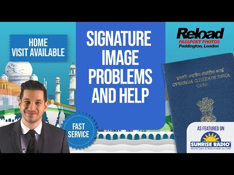 OCI Card Online Application - Signature Image Problems and Help