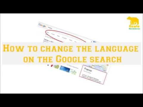 How to change the language on the Google search.