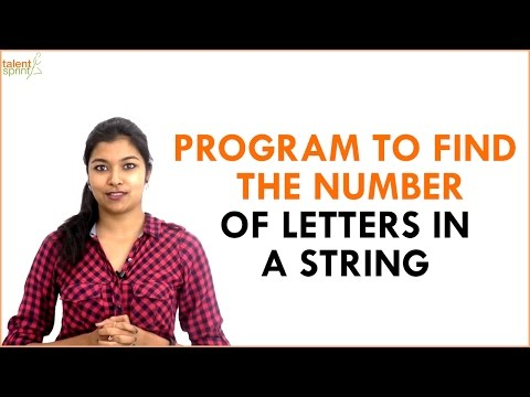 Program to Find the Number of Letters in a String | TalentSprint