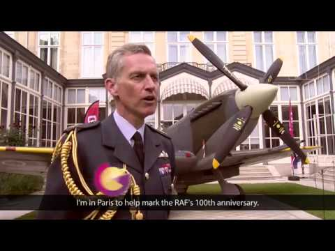 UK and French Chiefs mark special bond for RAF100