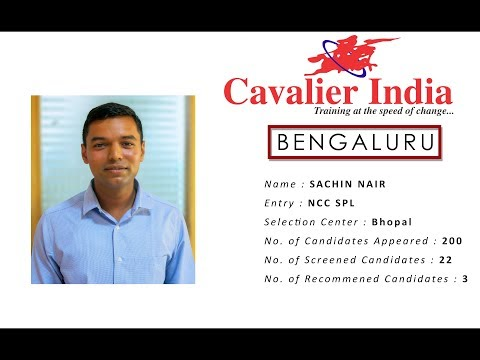 SSB Selected Candidate Sachin Nair || NCC Spl Entry 2018 || Cavalier India