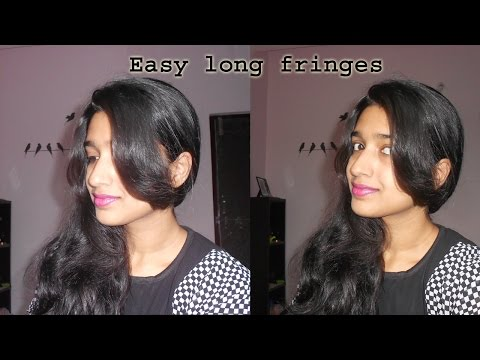 how to cut long front fringes at home | Niya Kumar