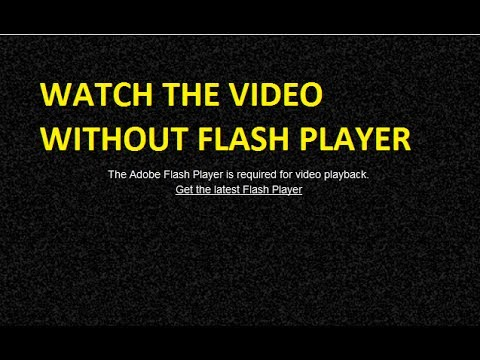 Watch YouTube without a flash player