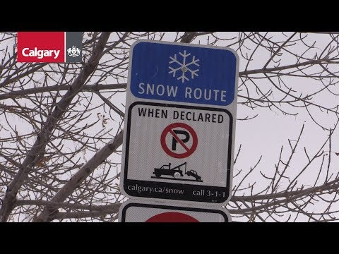 Snow Route Parking Ban Update