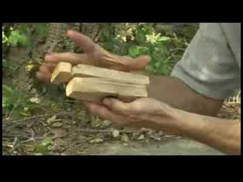 Starting a Fire With a Bow Drill Fire Starter : Making a Bow Drill Fireboard