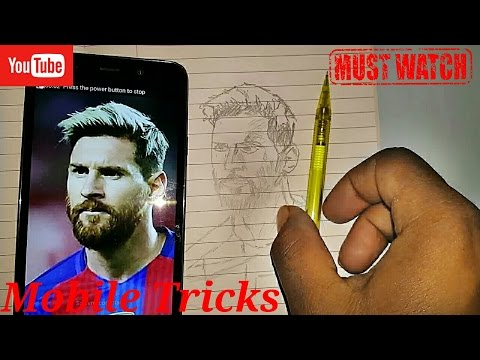 Draw any of sketch. Using Mobile trick.