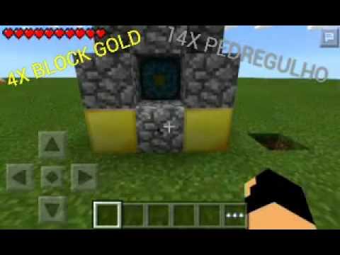 Minecraft PE 0.11.1 - Como Criar Portal Para o Nether