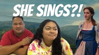EMMA WATSON SINGS?! BEAUTY AND THE BEAST| GOLDEN GLOBE |TRAILER REACTION!