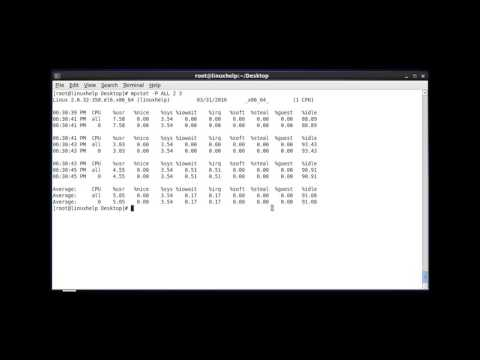 How to Monitor the CPU Utilization using mpstat tool
