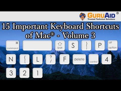 15 Important Keyboard Shortcuts of Mac® OS X™ Volume 3 - GuruAid