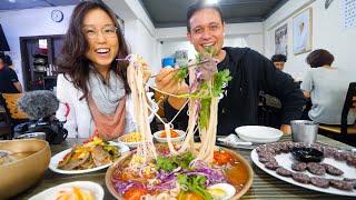 Download North Korean Food in Seoul - RAINBOW NOODLES + Big Beef Hot Pot in South Korea! (ft. Miss Mina) Video