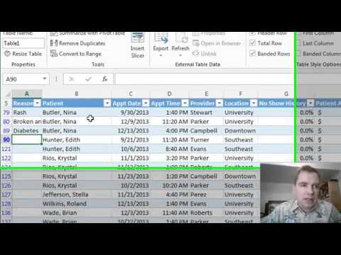 Excel Video 398 Resizing Tables