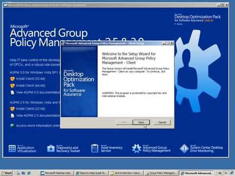 AGPM - Advanced Group Policy Management - Part 1 Installing AGPM