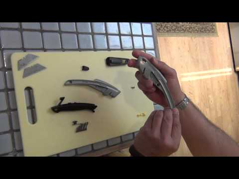 Stanley 10-788 utility knife blade change and assembly