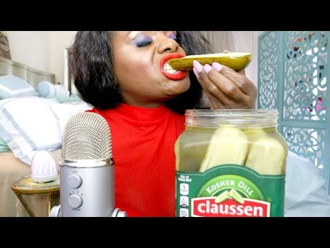 Pickle ASMR Eating Sounds/BIG Crunch/Intense