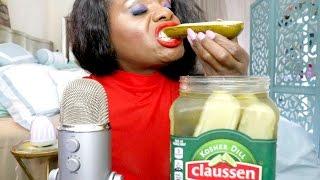 Pickle ASMR Eating Sounds/BIG Crunch/Intense