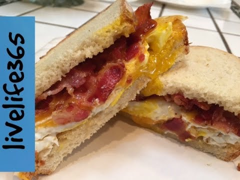 How to...Make a Classic Fried Egg, Bacon & Cheese Sandwich