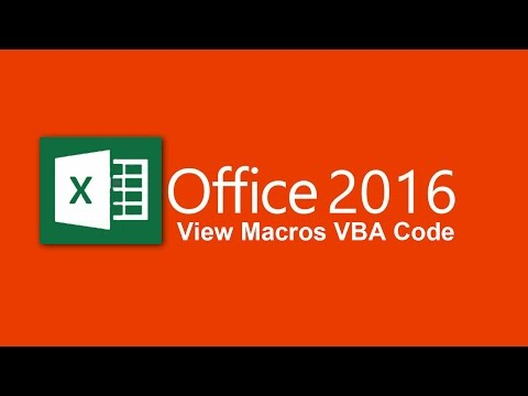 Record macros and view macros vba code in excel 2016