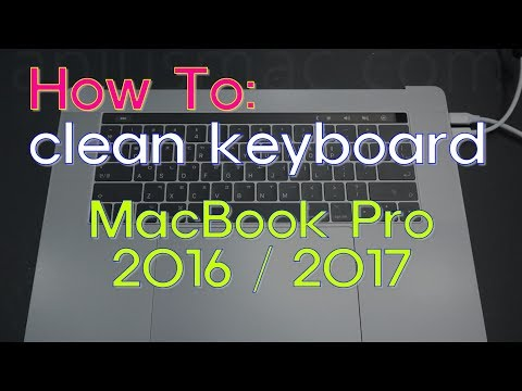 How to clean sticky keyboard for MacBook Pro 2016 / 2017 #MacBookKeycap #washing