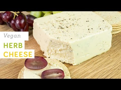 Vegan herb cheese - spreadable, easy to make, nutritious and healthy