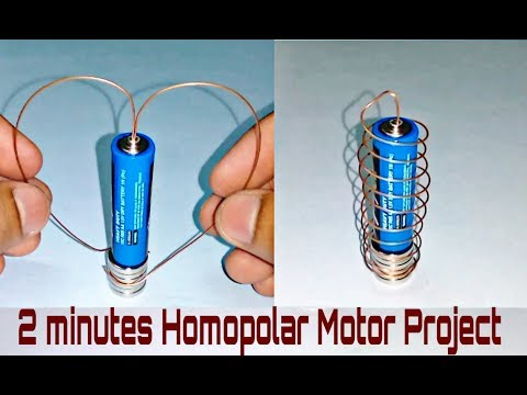 How to make Homopolar motor (IN HINDI) in 2 minutes- Best Science Project
