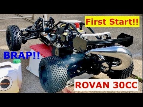 First Start of my Rovan 30CC 1/5 gas Buggy (its first BRAP!!!) (part 3)