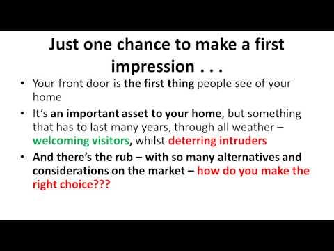 Buying a new front door in the UK