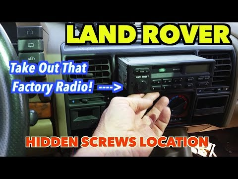 Land Rover Radio Removal Hidden screws... 1997 Discovery -Vlog #5