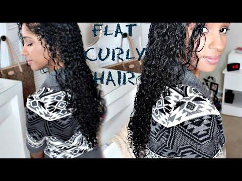 FLAT CURLY HAIR TUTORIAL