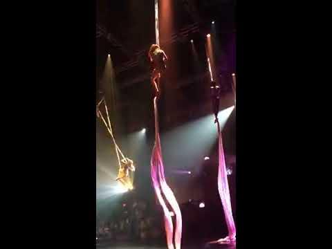 Lindsey Performing in Aerial Silks 2017 // Dance Circus Me