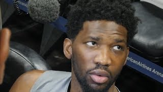 Joel Embiid interview before Game 4 against the Heat