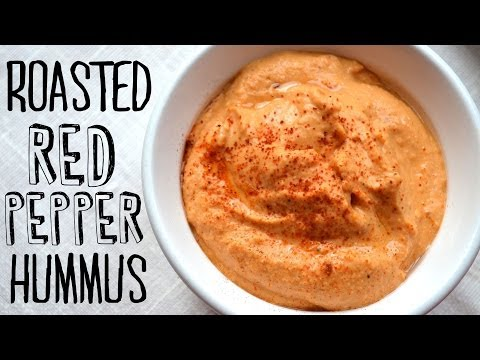 How to Make Roasted Red Pepper Hummus | Fablunch