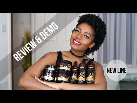 Revlon Realistic Black Seed Oil (BRAND NEW Natural Hair Care Line) (REVIEW & DEMO) (Jan 2018)