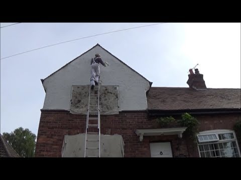 Painting render on a gable end