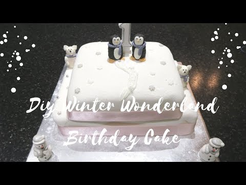 DIY Winter wonderland cake